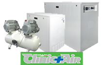 Clinic-Air Oil-Free Cabinet Silenced Compressors for Dental and Lab Applications