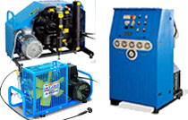Three Phase Paintball, Diving, Breathing Air Compressors