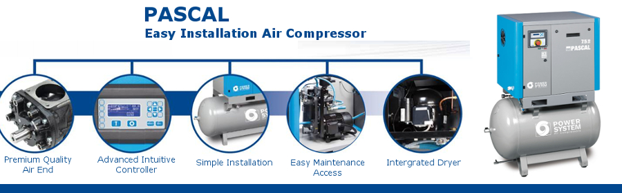 PASCAL Series - Fixed Speed Belt Driven Screw Compressors