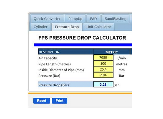 The Compressed Air Calculator