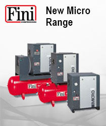NEW MICRO 2.2kW - 4kW - 5.5kW Screw Air Compressors