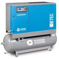 G-TEC 7.5kW-11kW-15kW-18.5kW-22kW Screw Air Compressor on 500Lt Receiver
