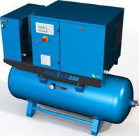 PhaZair-230 VSD-DF Receiver Mounted With Dryer