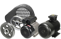 Pulleys, Belt Guards, Electric Motors and Wheel Kits